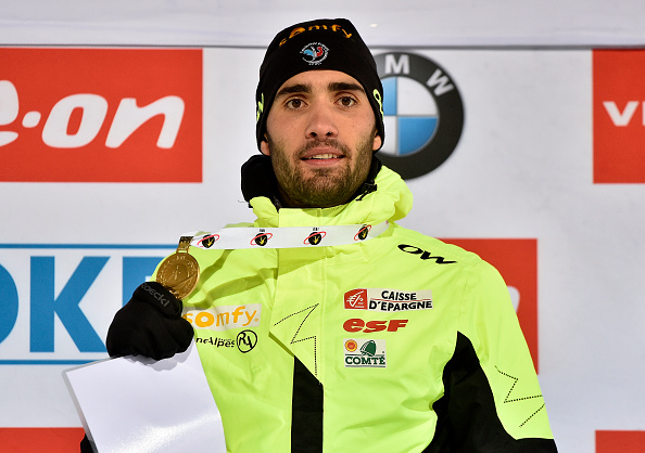 Martin Fourcade secured gold in the 20-kilometre race in Kontiolahti ©Getty Images