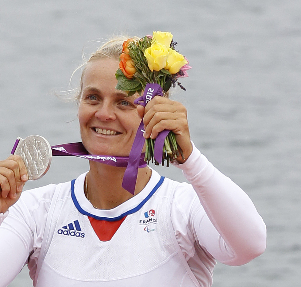 Perle Bouge bettered her own record in the women's Para TA 1,000m ©Getty Images