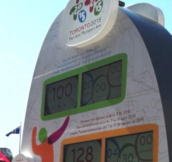 A citizenship ceremony has marked 100 days to go to Toronto 2015 ©Toronto 2015/Instagram