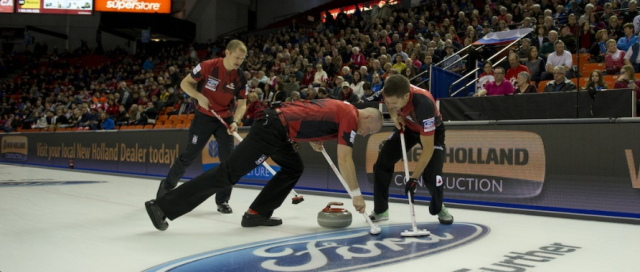 Hosts Canada qualified for the Page 1v2 play-off after defeating Scotland ©WCF/CC/Michael Burns