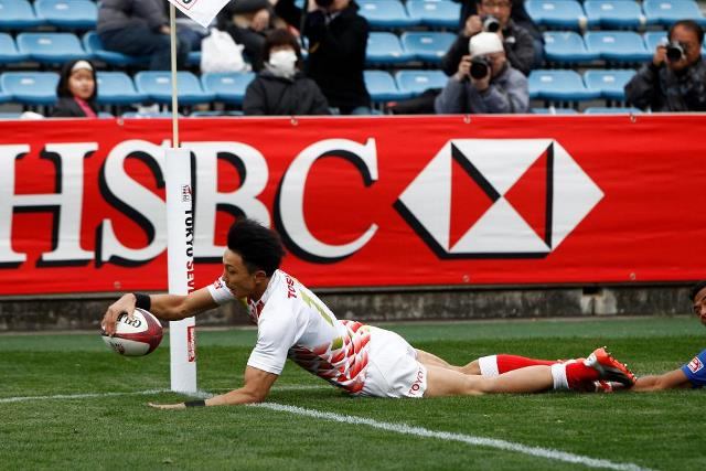 Hosts Japan progressed to their first Cup quarter-final since 2000 at the Sevens World Series event in Tokyo ©World Rugby