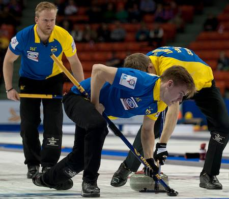 Niklas Edin's Sweden will face Norway in the World Men's Curling Championship final ©Curling Canada/Facebook