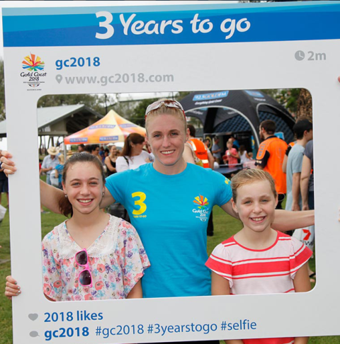 Sally Pearson was among the athletes to help Gold Coast 2018 celebrate Three Years to Go until the start of the next Commonwealth Games ©Twitter