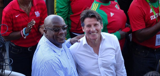 Sebastian Coe has been visiting St Kitts and Nevis, where he met the country's Prime Minister Timothy Harris ©Twitter