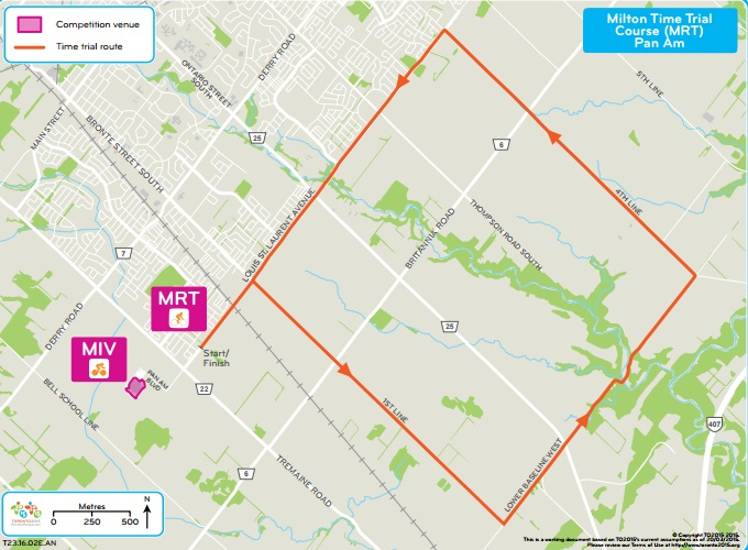 The Pan American Games route will be 20 kilometres long with a start and finish on Louis St Laurent Avenue ©Toronto 2015