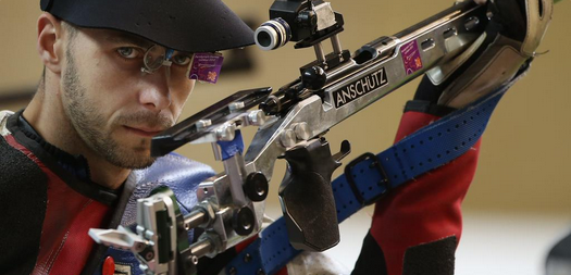 Britain's Matt Skelhon was a home winner at the IPC Shooting World Cup in Stoke Mandeville ©