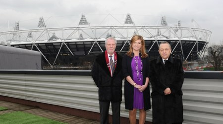 Karren Brady_David_Gold_and_David_Sullivan_in_front_of_Olympic_Stadium_February_11_2011