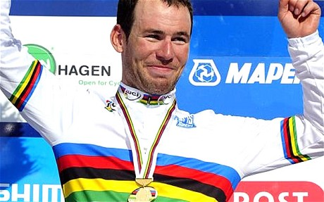 Mark Cavendish_on_podium_Copenhagen_September_2011