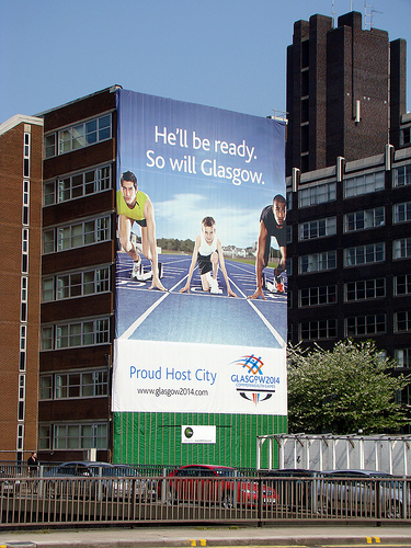 Glasgow_2014_advert_on_side_of_building