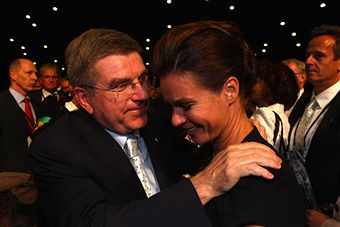 Katarina_Witt_crying_with_Thomas_Bach_Durban_July_6_2011