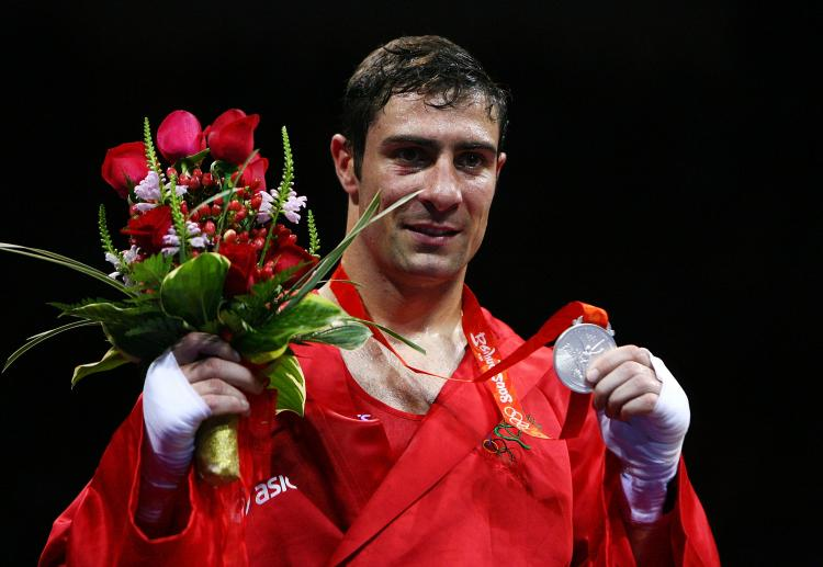 Kenny_Egan_with_Olympic_silver_medal