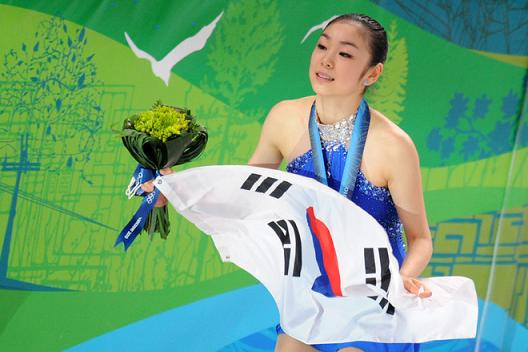 Kim_Yu-Na_with_Korean_flag