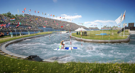 Lee_Valley_White_Water_Centre_in_competition_mode