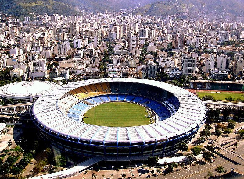 Maracana Stadium with Rio in background