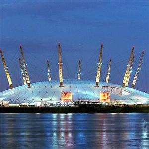 O2 arena lit up