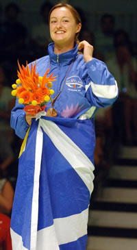 Susan_Egelstaff_with_Scottish_flag_wrapped_round_her
