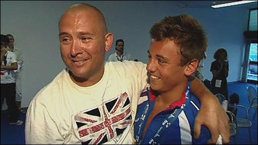 Tom Daley with dad