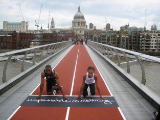 Tyson_Gay_and_Allyson_Felix_on_Millennium_Bridge_London_September_20_2007